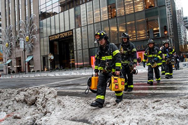 【快讯】川普大楼着火 逾100名消防员灭火