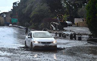 加州泥石流摧毁百栋民宅 高速变泥水河