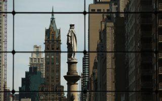 哥伦布雕像被保留