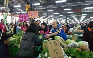 果菜攤販拱「選市長」 韓國瑜:年後明朗