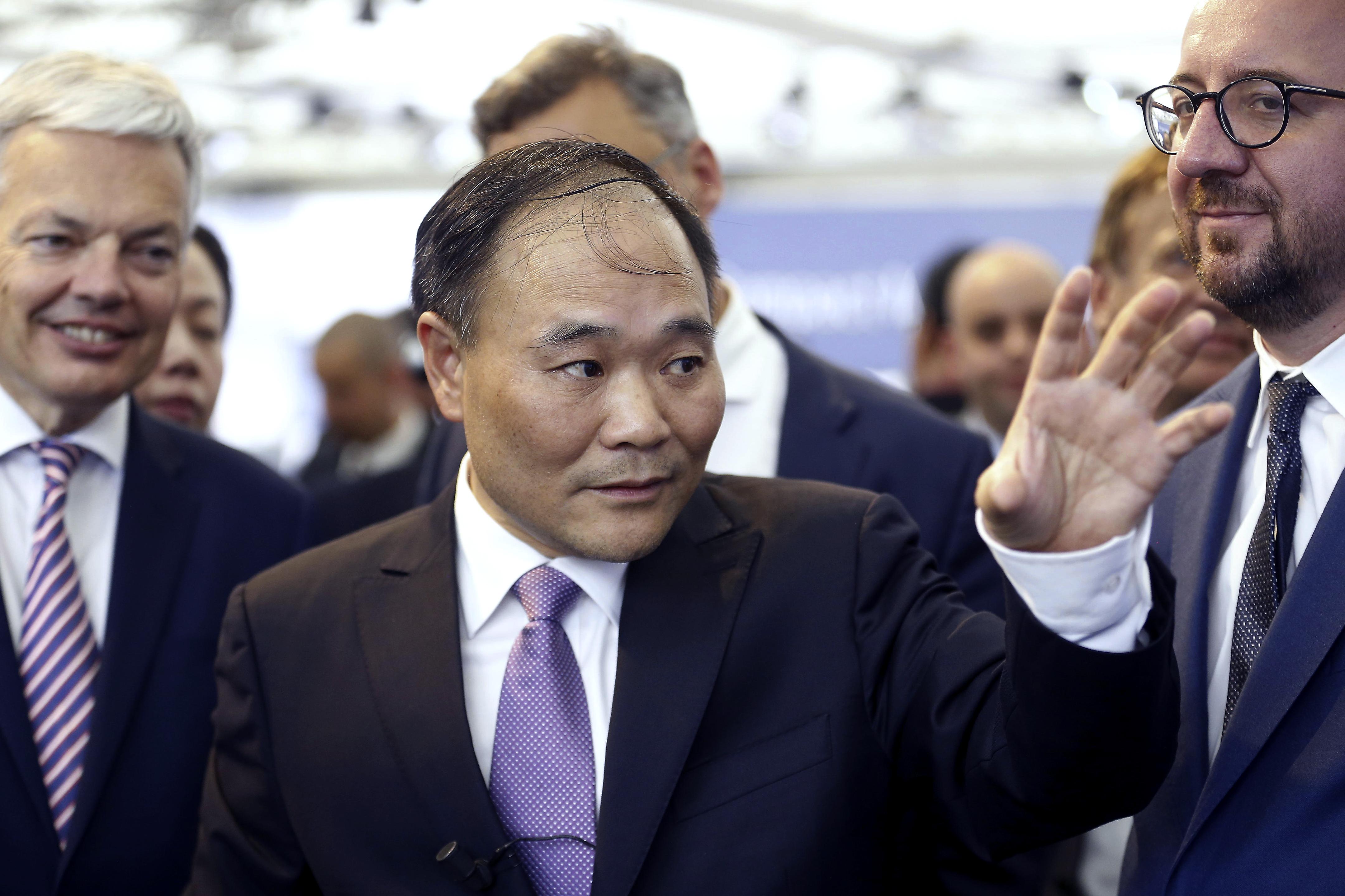 圖為中國吉利汽車董事長李書福 (AFP)