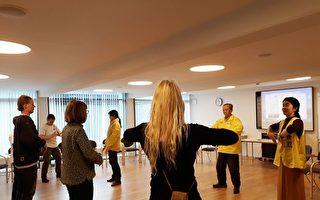 哥本哈根健康博览会 学法轮功者众多
