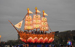 法船花燈抵嘉璀璨登場  貴賓齊集參與點燈