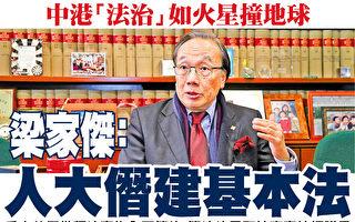 斥中共借释法干预香港 梁家杰吁律界坚守理念