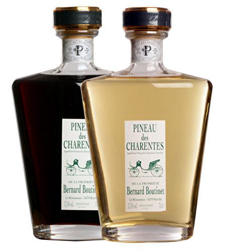 Bernard Boutinet出品的夏朗德彼诺甜酒(Pineaux des Charentes)。(Bernard Boutinet提供)
