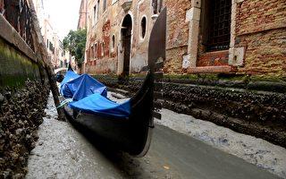 """""""超级蓝血月""""过后 水都威尼斯运河干枯"""
