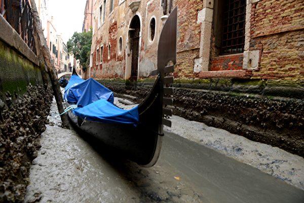 「超級藍血月」過後 水都威尼斯運河乾枯