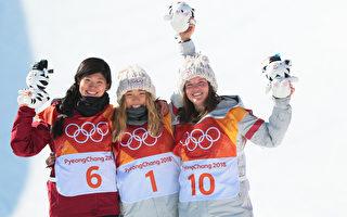 冬奥会 韩裔美籍17岁天才少女单板滑雪摘金