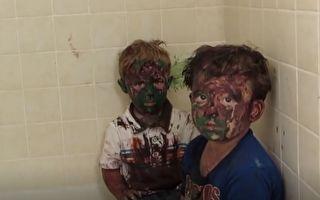 闯祸的两兄弟:爸爸,你可以不要笑场吗……