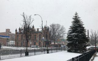 冬季風暴再襲紐約 法拉盛商家生意冷清