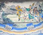 頤和園長廊上的西遊記彩繪。