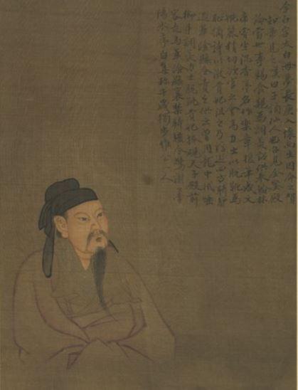 郭祥正少年時代倜儻不羈,崇尚李白,寫就的詩文很有飄逸之氣。圖為《歷代聖賢半身像.李白》,台北國立故宮博物院藏。(公有領域)