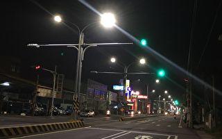 彰鹿路入夜通明  用路人不必再摸黑往來