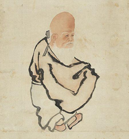 罗宪岳梦见三位神人,其中一位是白发老翁。图为明宣宗《寿星》,台北国立故宫博物院藏。(公有领域)