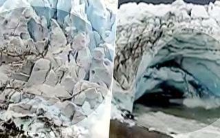冰川震撼崩塌 驚人場面讓人隔著屏幕都尖叫