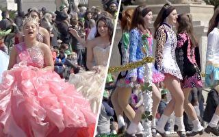美国首都热闹迎春 舞蹈 表演 赛车样样来