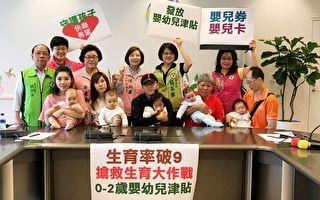 台中生育率跌破0.9    议员促升级婴幼儿政策