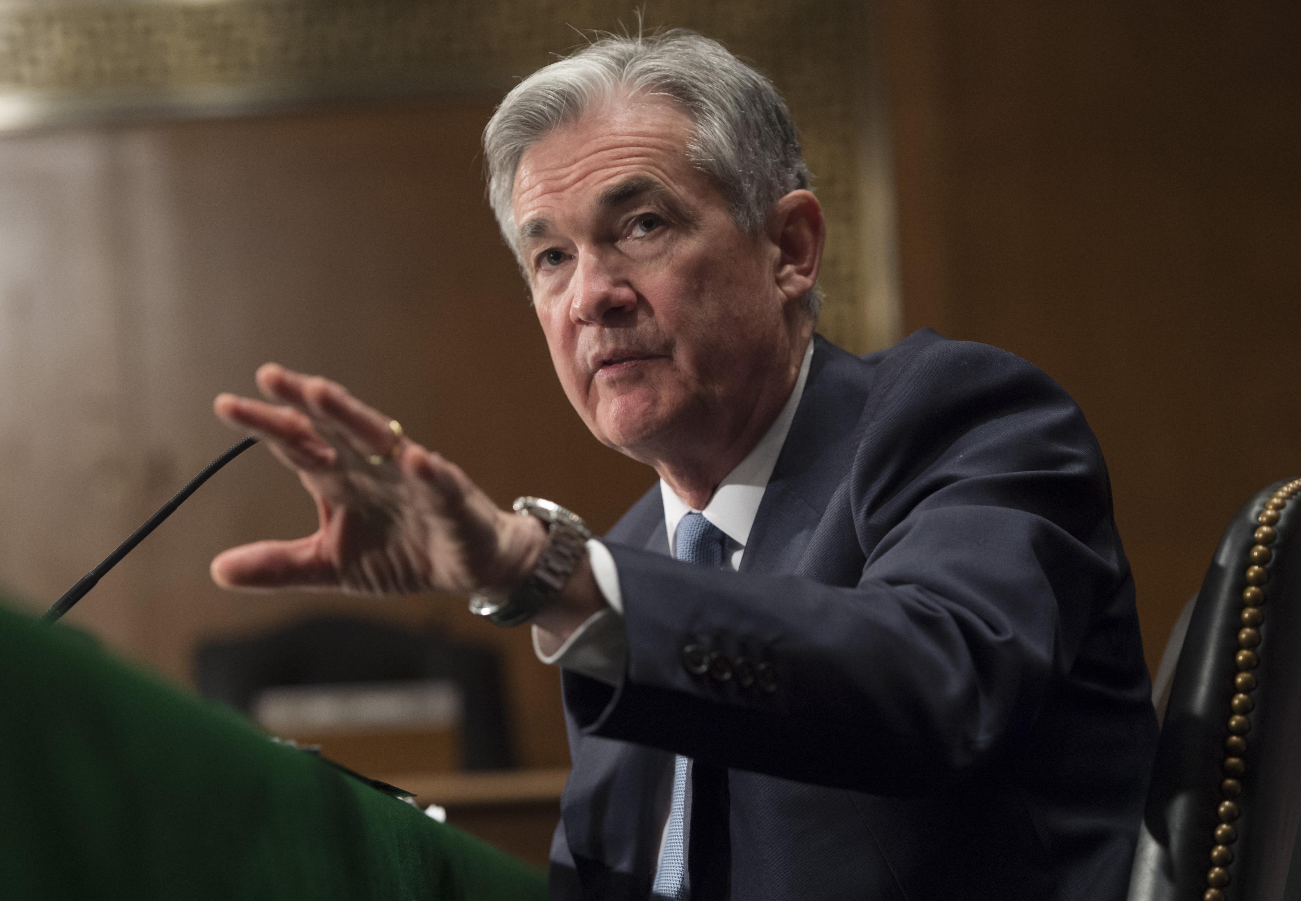 Fed主席鮑爾(Jerome Powell)。(AFP)