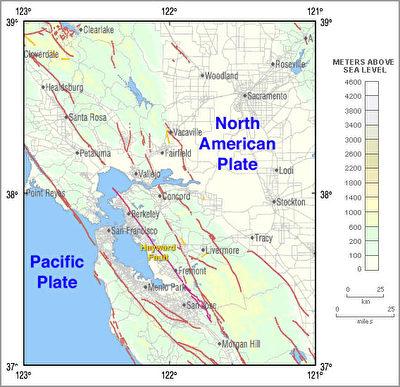 USGS:东湾下断层比圣安德烈亚斯更危险