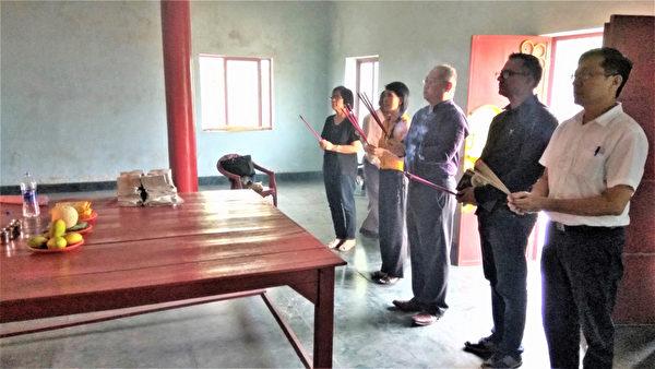 台駐印度代表處蘭伽公墓春祭 中共干擾未果