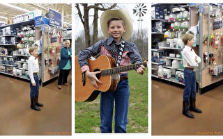 在超市即興高歌一曲 美11歲男孩走紅網絡