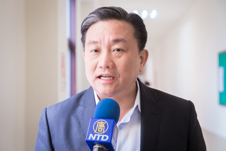 台灣立法委員王定宇:中共用的是槍砲,法輪功用的是人性跟勇氣