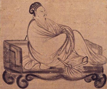 明 張飌《諸葛亮像》局部,台北國立故宮博物院藏。(公有領域)