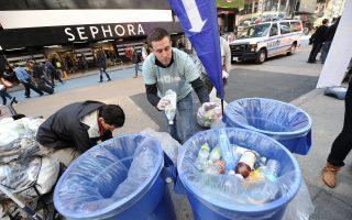 回收物品当垃圾 纽约市回收概念差