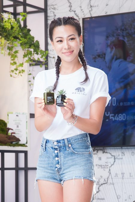 蔡詩芸12日出席保養品牌活動。