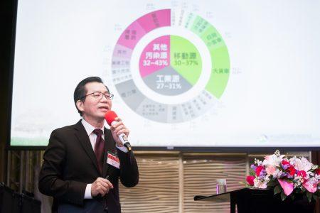 """环保署长李应元18日出席三三会例会,专题演讲""""当前台湾环保问题与政策""""。"""