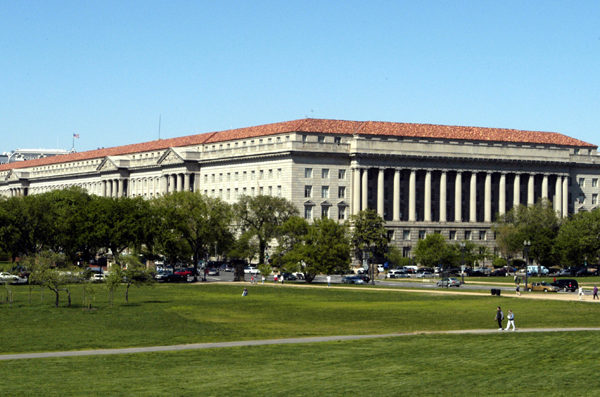 美國商務部2018年6月通知Futurewei Technologies,稱出於國家安全考慮,打算拒絕延長到期出口許可證的申請。圖為美商務部。(維基百科公有領域)