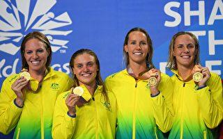 女星布朗蒂 4×100米混合接力为澳洲再夺一金