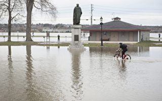 卑诗省及新布省多地区洪水泛滥