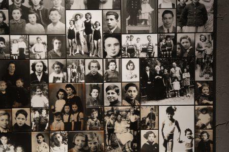 纽约市纪念馆中犹太人在大屠杀中受害者的照片。