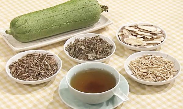 子宮肌瘤食療方之絲瓜止血化瘤湯,很適合出現口渴、煩躁、口苦等症狀的病人。(談古論今話中醫提供)