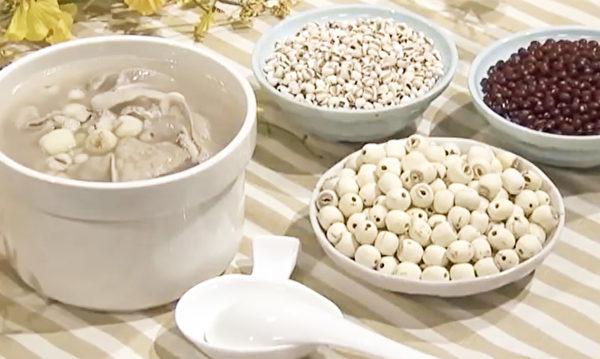 子宮肌瘤食療方之豬肚薏蓮湯,其中薏仁對於去多餘東西有特效。(談古論今話中醫提供)