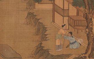 图为明仇英画《二十四孝册.朱寿昌弃官寻母》,台北国立故宫博物院藏。(公有领域)