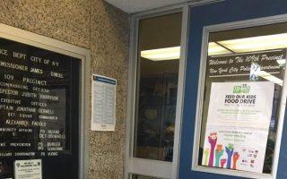 捐赠罐头食物救济贫困儿童  109分局门口设接收点