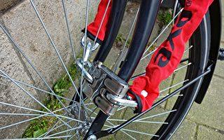 梅警长提醒锁好单车车轮