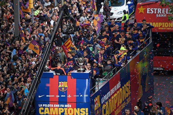 巴塞罗那提前四轮夺本赛季西甲冠军奖杯