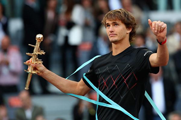 馬德里網賽:茲維列夫奪冠 科維托娃封后