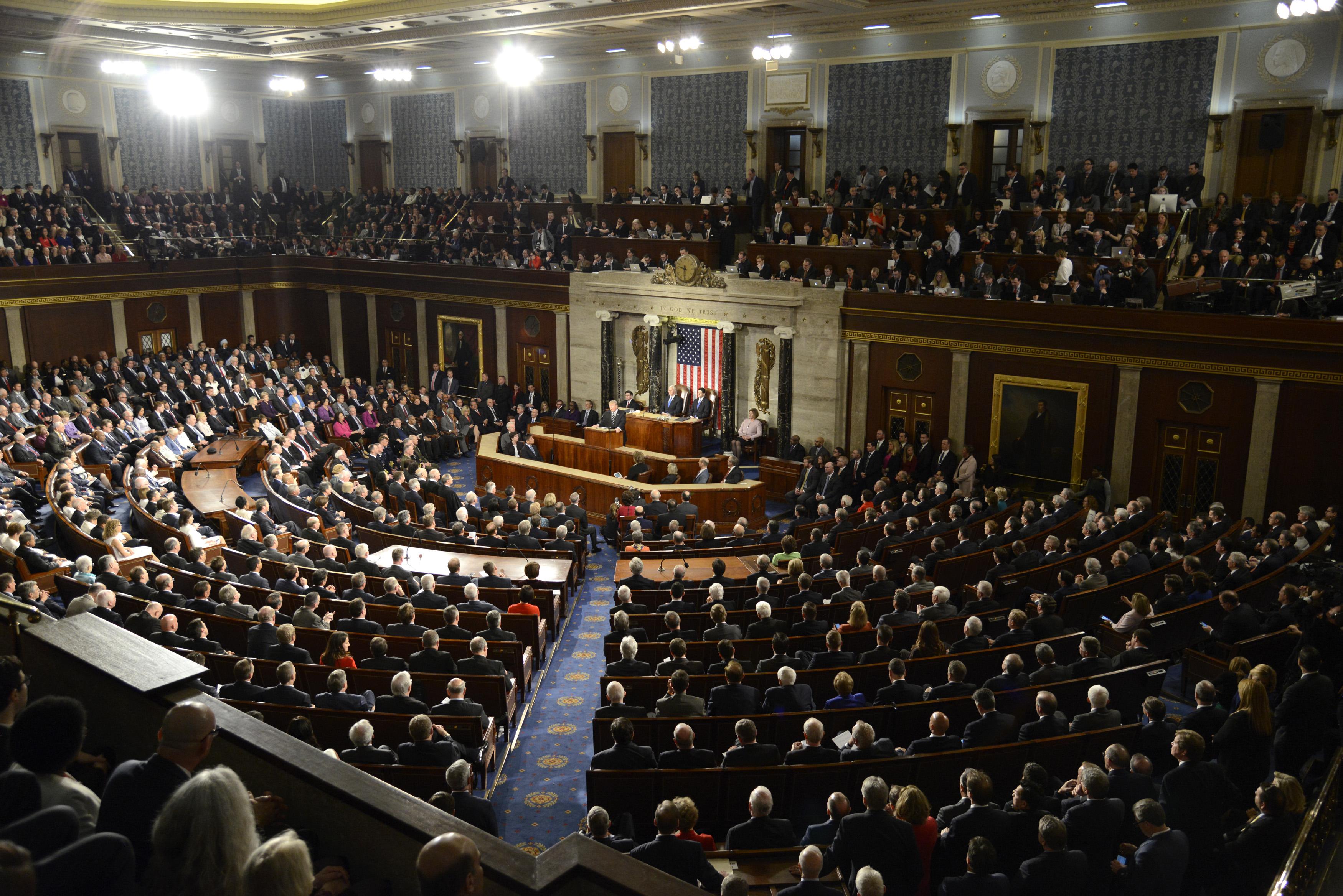 美國眾議院外交事務委員會10月30日一致通過兩項有關5G的法案,以應對中共在5G網絡和標準制定方面構成的威脅。圖為美國眾議院。 (Mike Theiler / AFP)