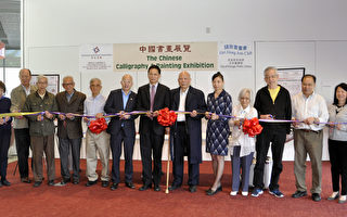 弘揚傳統藝術 中國書畫展覽華埠圖書館開幕