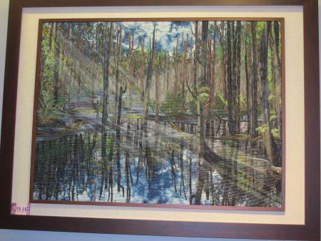 在這次的展出中,最令人驚豔的是描繪大自然的景觀作品