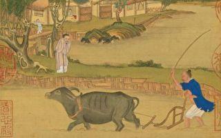 圖為清 冷枚《耕織圖冊.耕》,台北國立故宮博物院藏。(公有領域)