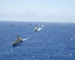 2002年的環太平洋軍演場面。(Mislinski/Getty Images)