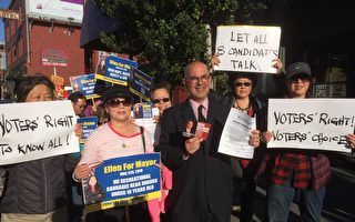 竞选论坛不邀请 旧金山市长候选人抗议