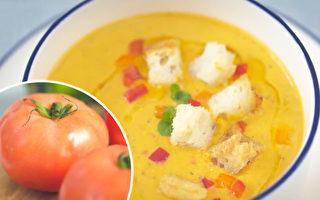 立夏养生重养心 吃红色食物 5步做番茄冷汤