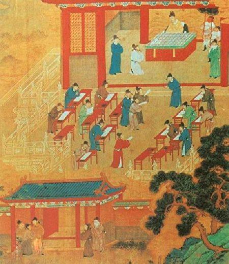 宋朝的科舉考試情景。(Qiushufang/Wikimedia commons)