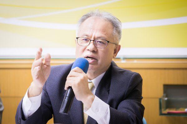 台灣民主基金會副行政總裁顏建發。(陳柏州/大紀元)
